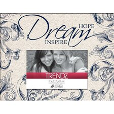 <strong>Timeless Frames</strong> Trendz Hope Dream Inspire Decoupage Tabletop Photo Frame