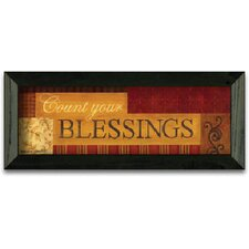 Count Your BlessIngs Art Print Wall Art