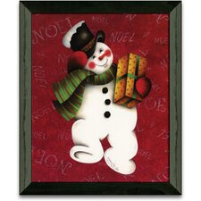 Hurry Hurry Christmas Holiday Framed Painting Print