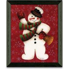 Hello Hello Christmas Holiday Framed Painting Print