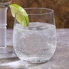 Crackle Rock Old Fashioned Glass (Set of 6)