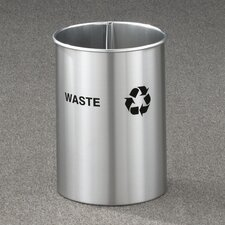 <strong>Glaro, Inc.</strong> RecyclePro Dual Stream Open Top Recycling Receptacle