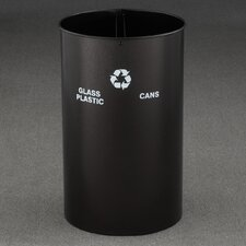 RecyclePro Dual Stream Open Top 36 Gallon Industrial Recycling Bin
