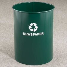 RecyclePro Single Stream Open Top 12 Gallon Industrial Recycling Bin