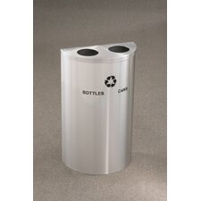 RecyclePro Value Series 14 Gallon Multi Compartment Recycling Bin