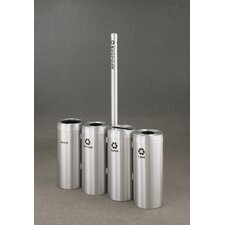 <strong>Glaro, Inc.</strong> RecyclePro Value Series Quadruple Unit Recycling Receptacle