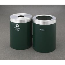 RecyclePro Value Series Dual Unit 82 Gallon Multi Compartment Recycling Bin