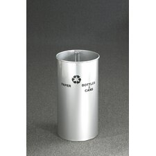 RecyclePro Dual Stream Open Top Recycling Receptacle