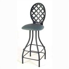 "Lattice Back 24"" Swivel Stool"