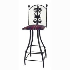 "<strong>Grace Collection</strong> Grapes 30"" Swivel Stool"