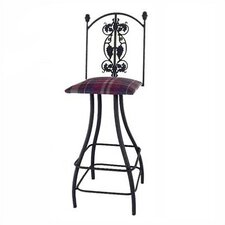 "<strong>Grace Collection</strong> Grapes 30"" Swivel Bar Stool"