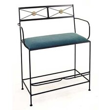 <strong>Grace Collection</strong> Neoclassic Spectator Metal Bench