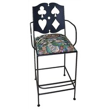 "<strong>Grace Collection</strong> Cards 18"" Bar Side Chair with Arms"