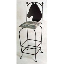 "Equestrian 24"" Counter Stool w/ Arms"