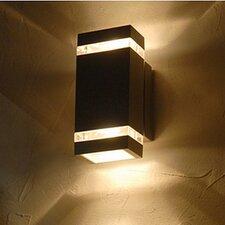 LED-Außendoppelwandleuchte 6-flammig Focus