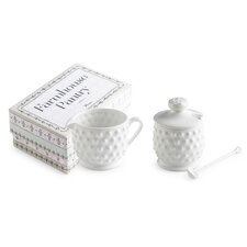 Farmhouse Pantry Hobnail Condiments Set