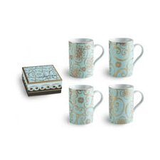 Arabesque Barrel 10 oz. Mug (Set of 4)