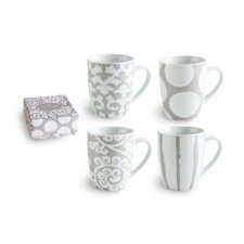 <strong>Rosanna</strong> Rue Du Bac 11 oz Mug (Set of 4)