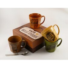 Cafe Belle Epoque 20 oz Mugs (Set of 4)