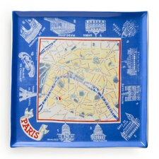 Voyage Paris Map Square Serving Tray