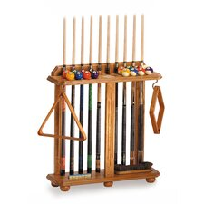 Floor Pool Cue Rack