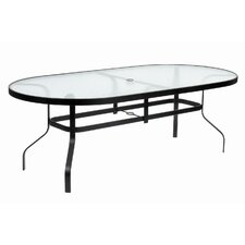 <strong>Suncoast</strong> KD Oval Glass Dining Table with Hole