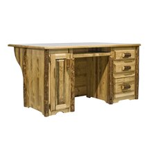 <strong>Montana Woodworks®</strong> Glacier Country Executive's Office Desk