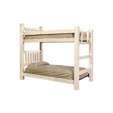 Homestead Twin over Twin Bunk Bed with Built-In Ladder