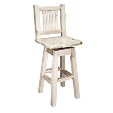 Homestead Barstool with Back and Swivel