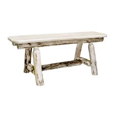 Wood Plank Style Kitchen Bench