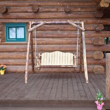 Glacier Country Porch Swing with Stand
