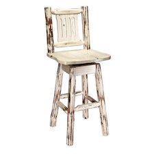 Montana Swivel Barstool with Back