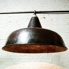 "27.75"" Metal Bowl Ceiling Fan Shade"
