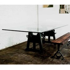 V3 Glass Press-Leg Dining Table