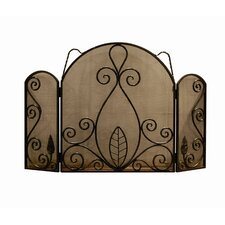 <strong>Artesano Iron Works</strong> 3 Panel Wrought Iron Fireplace Screen