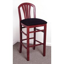 Fan Bar Stool with Cushion