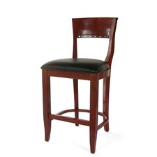"<strong>Beechwood Mountain LLC</strong> Biedermier 24"" Bar Stool with Cushion"