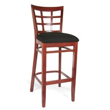 <strong>Beechwood Mountain LLC</strong> Lattice Bar Stool with Cushion