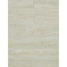 "VinylComfort Home Engineered 35.63"" x 11.63"" in Bianco Travertine Cork Core"