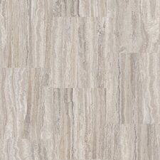 "Artcomfort 17-1/2"" Engineered Cork Flooring in Travertine Argent"