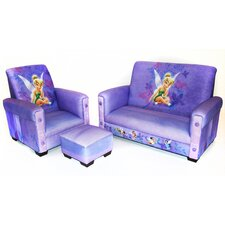 Disney Fairies 3 Piece Toddler Sofa Set
