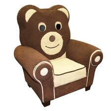 Magical Harmony Fuzzy Bear Kid's Club Chair