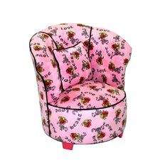 Magical Harmony Tulip Minky Kid's Club Chair