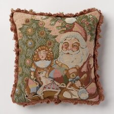 <strong>Corona Decor</strong> Holiday Whimsy Santa Pillow