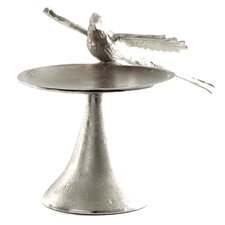 Costa Brava Aluminum Bird Pillar Candle Holder