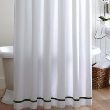 Tailored Pique Cotton Shower Curtain