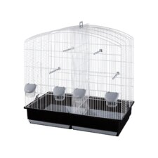 Cynthia Divider Bird Cage in White