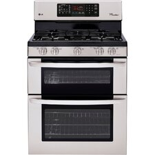 "30"" Freestanding 5-Burner Gas Range with Double Oven"
