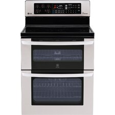 "30"" Freestanding 4-Element Electric Range with Double Oven and Infrared Grill Broiler"