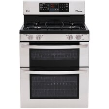 "30"" Freestanding 4-Burner Gas Range with Double Oven"